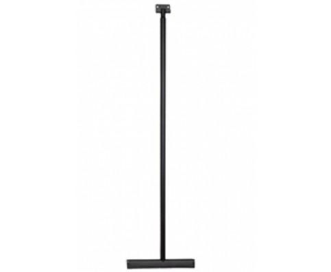 luxe badkamer-vloerwisser met ophanging mat-zwart
