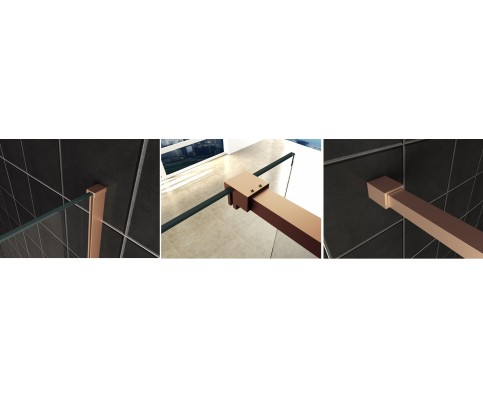 Wiesbaden Slim profielset met stabilisatiestang 120 cm koper