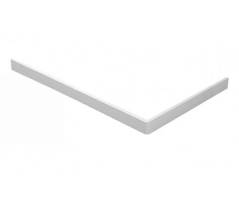 Voorzetpaneel + poten tbv douchebak acryl 160x90x4 cm. wit