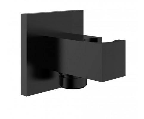 Wiesbaden luxe muur doucheaansluiting met opsteek vierkant 1/2'' zwart