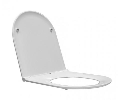 Wiesbaden Flatline 2.0 toiletzitting met deksel one-touch wit