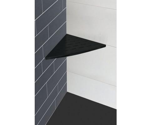Wiesbaden InWall hoekplanchet 29x29 cm. mat-zwart