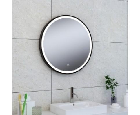 Wiesbaden Maro spiegel 600 mm rond met LED mat zwart