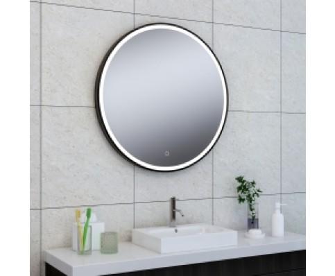 Wiesbaden Maro spiegel 800 mm rond LED mat zwart