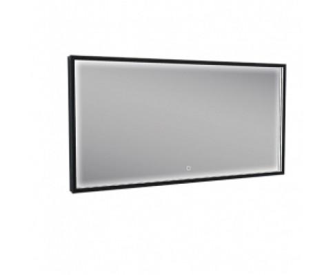 Rechthoekige condensvrije LED-spiegel 1200x600 mm. matzwart