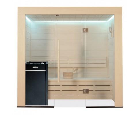 AWT Sauna E1203A-IR populier 202x133 cm. 9kW Vitra
