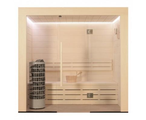 AWT Sauna E1203B populier 202x103 cm. 9kW Cilindro