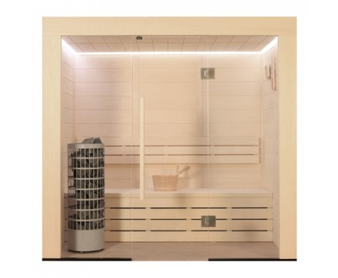 AWT Sauna E1203A-IR populier 202x133 cm. 9kW Cilindro