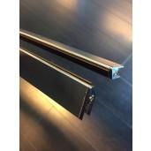 Wiesbaden set magneetstrips 8 mm. chroom tbv swingdeur+wand
