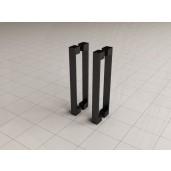 Losse deurgreep nieuw model 20,5c m mat-zwart