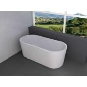 Wiesbaden Libero vrijstaand acryl ligbad 178x80 cm. met waste mat wit