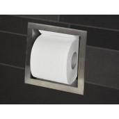 Wiesbaden inbouw reserve toiletrolhouder RVS