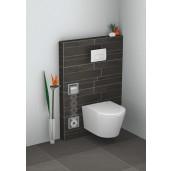 Wiesbaden inbouw toiletrolhouder met reserve-rollen houder in RVS