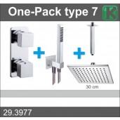 Wiesbaden One-Pack inbouwthermostaatset vierkant type 7 (30 cm)