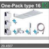 One-Pack inbouwthermostaatset type 16 (24x55 cm.)