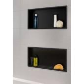 Wiesbaden inbouwnis 30x60x7 cm. mat-zwart