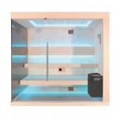 EO-SPA Sauna B1245A populier 250x180 cm. 9kW EOS BiO-Thermat