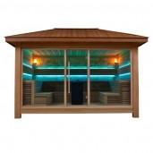 AWT Sauna LT1400D red cedar 350x250 10.8kW Vitra combi