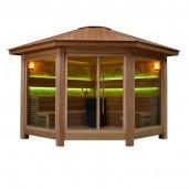 AWT Sauna LT1501B red cedar 300x300 cm. 10.8kW Vitra
