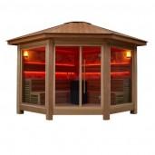 AWT Sauna LT1501A red cedar 350x350 10.8kW Vitra combi