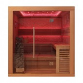 EO-SPA Sauna E1241A red cedar 220x170 cm. 9kW Kivi