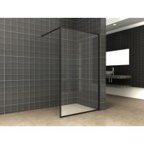 Square inloopdouche 10 mm. NANO 1200x2000 mm. mat-zwart