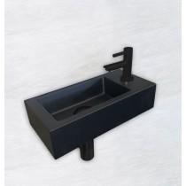 One Pack Mini-Rhea rechts fontein 360x180x90 mm. mat-zwart