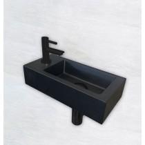 One Pack Mini-Rhea links fontein 360x180x90 mm. mat-zwart