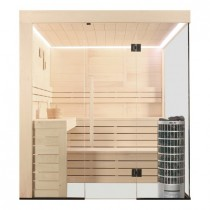 AWT Sauna E1205C-IR populier 207x168 cm. 9kW Cilindro