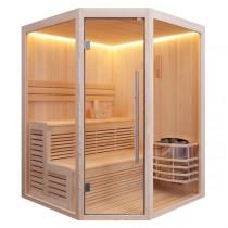 AWT Sauna E1801B pijnboomhout 160x160 cm. 6kW Vega
