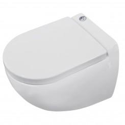 Zwevend toilet met ingebouwde vermaler (broyeur)
