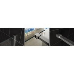 Wiesbaden Slim profielset met stabilisatiestang 120 cm. chroom