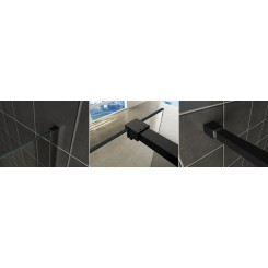 Wiesbaden Slim profielset met stabilisatiestang 120 cm. mat zwart