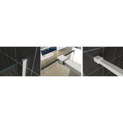 Wiesbaden Slim profielset met stabilisatiestang 120 cm mat-wit
