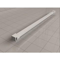 Wiesbaden Slim stabilisatiestang 120 cm mat-wit