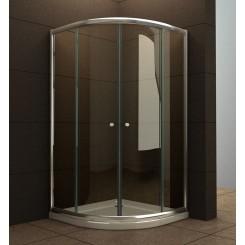 kwartronde douchecabine 5 mm. 900x900x1900 mm. helder glas