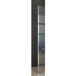 Zijwand met hoekprofiel 300x2000 mm. 10 mm. NANO glas