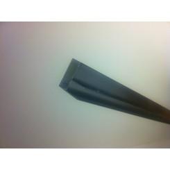 Hoekprofiel 90 gr. tbv glaswand 1 cm lengte 200 cm