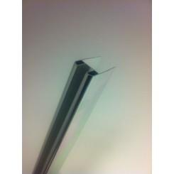 Chroom glasprofiel tbv muurprofiel glasdikte 1cm lengte 200 cm
