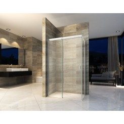 Douchedeur Softclose met wand 1200x900x2000 mm. 8 mm. NANO