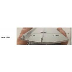 aluminium afdekstrip 200cm wandprofiel type 3