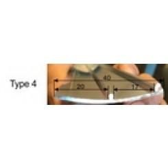 Chroom metalen zijpaneelhouder rechts