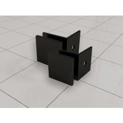 set van 2 glaskoppelingen tbv profielloze inloopdouche mat-zwart