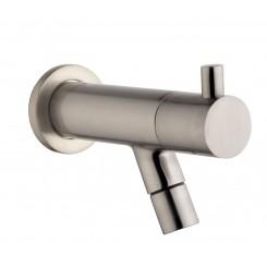 "Amador KIWA Toiletkraan muurbev.1/2""geborsteld staal"