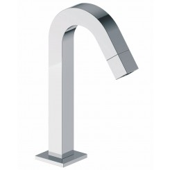 Kappa toiletkraan staand gebogen vierkant  chroom