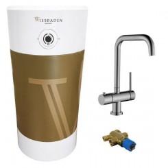Set Calda kokendwaterkraan boiler 8 l met kraan RVS en mengventiel