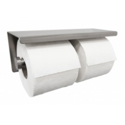 Wiesbaden 304-dubbele toiletrolhouder RVS