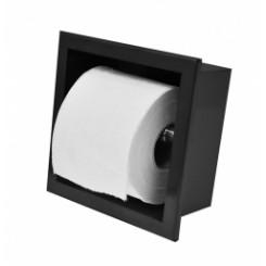Wiesbaden inbouw-toiletrolhouder mat-zwart