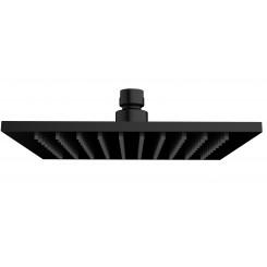 Wiesbaden luxe messing hoofddouche vierkant 200 mm x 8 mm zwart