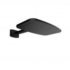 Wiesbaden waterval hoofddouche met douchearm 404x254 mm. mat zwart